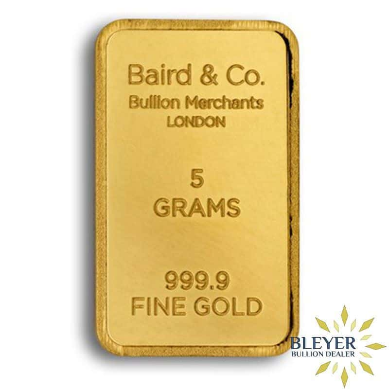 5g Baird & Co Minted Gold Bar