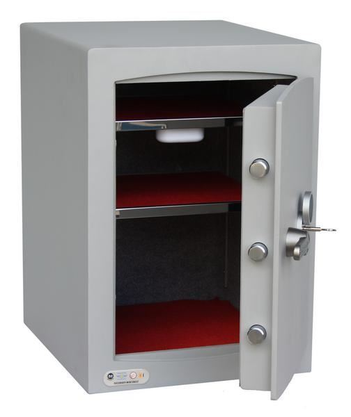 Mini Vault S2 Silver 1 Key Locking Safe