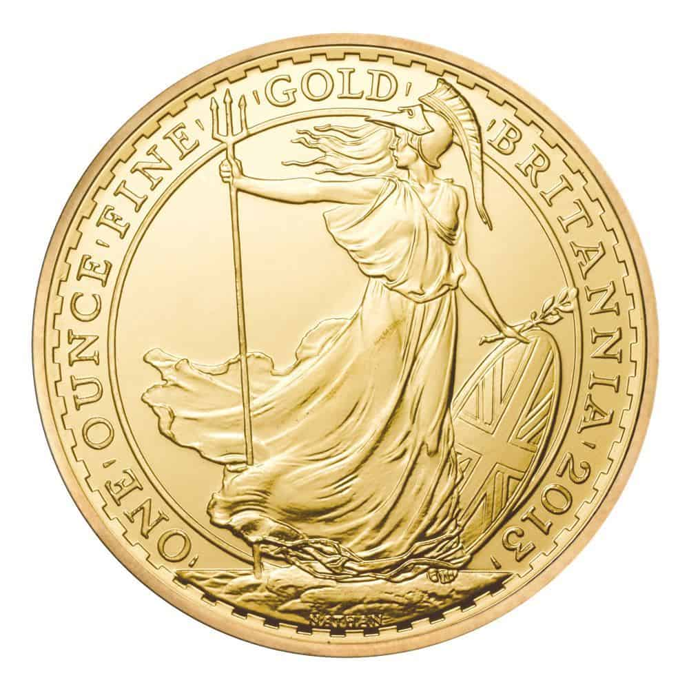 1oz Gold UK Britannia Coin, 2013