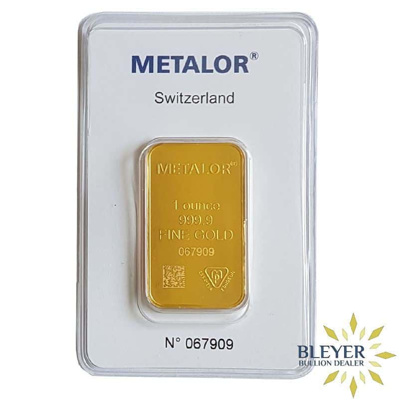 1oz Metalor Minted Gold Bar