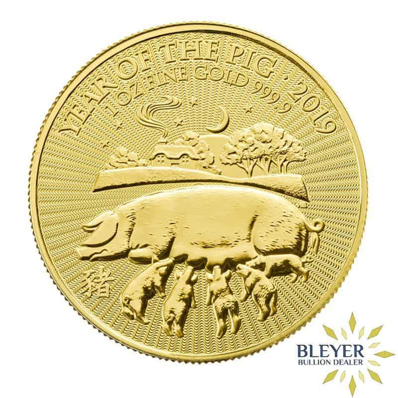1oz Gold UK Lunar Pig Coin, 2019