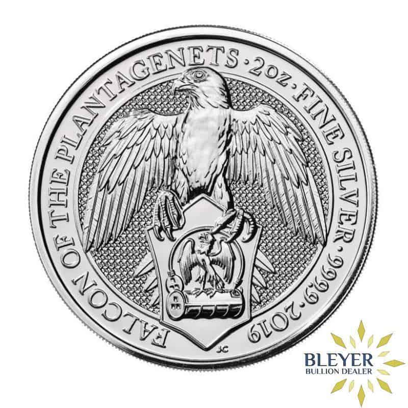 2oz Silver UK Queen's Beasts The Falcon of the Plantagenets, 2019