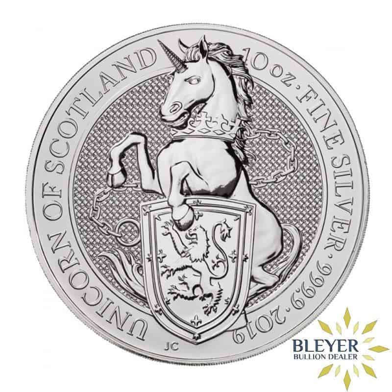 10oz Silver UK Queen's Beasts Unicorn, 2019