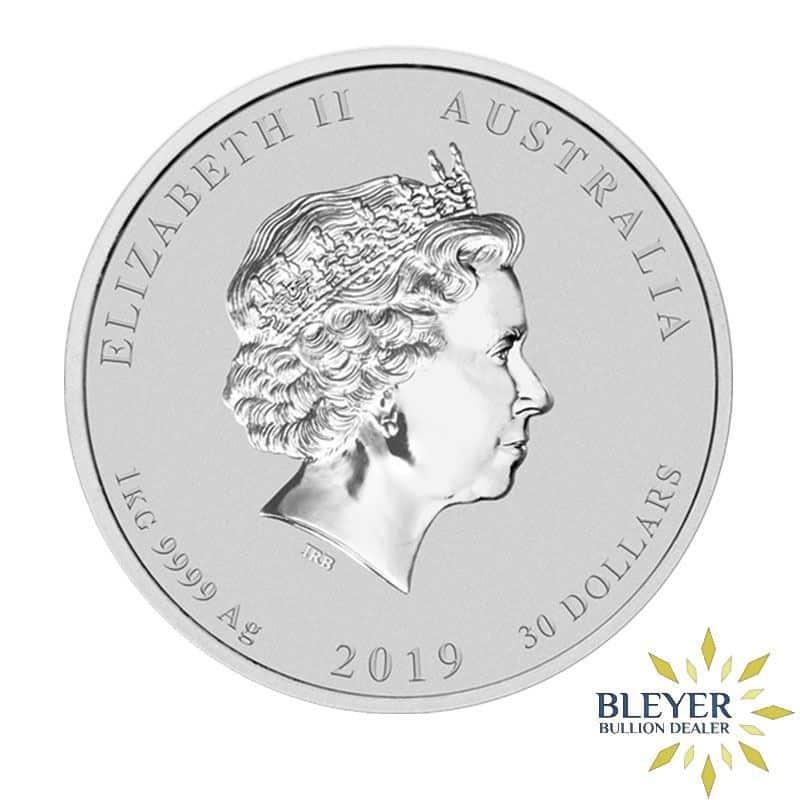 1kg Silver Australian Lunar Pig Coin, 2019