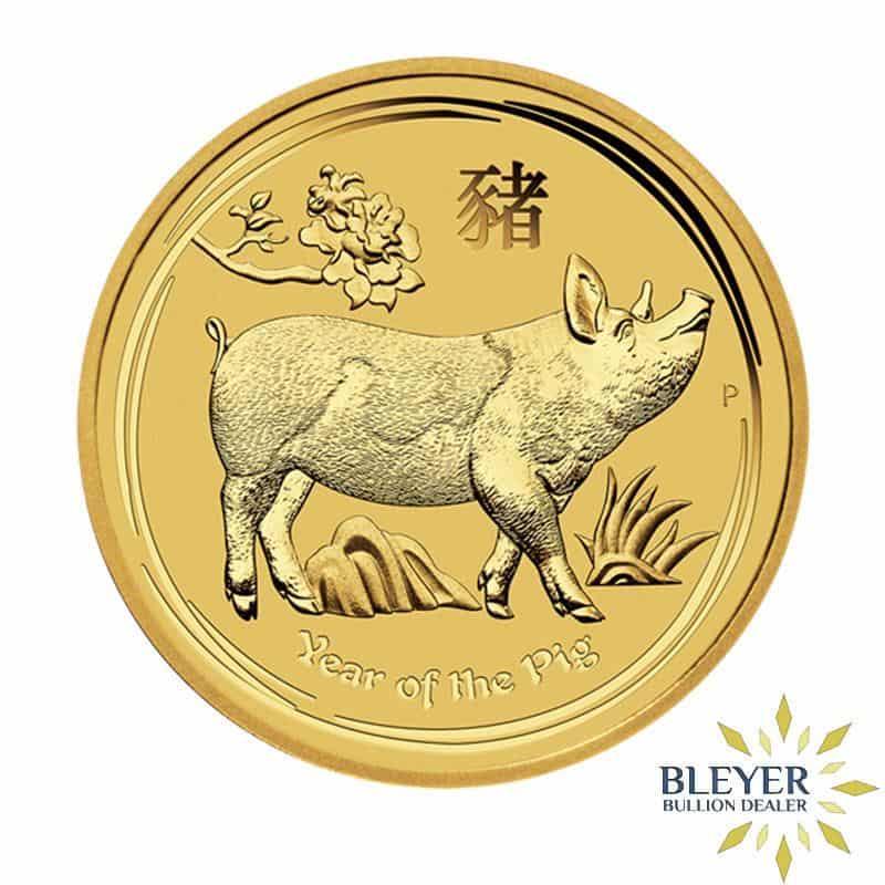 1oz Gold Australian Lunar Pig Coin, 2019