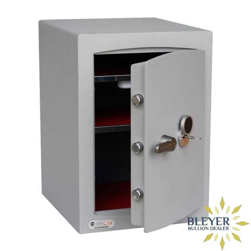 Mini Vault S2 Silver 2 Key Locking Safe