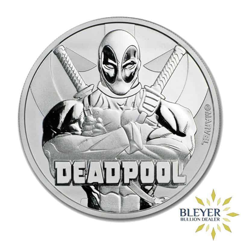 1oz Silver Tuvalu Marvel Deadpool Coin, 2018