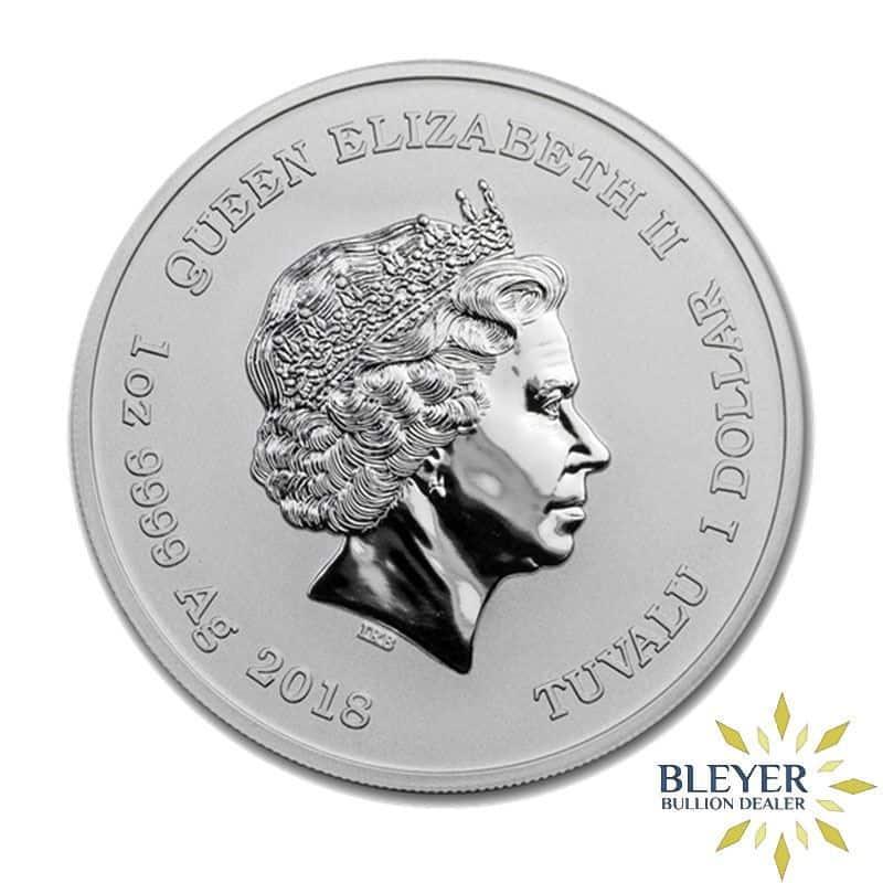 1oz Silver Tuvalu Marvel Deadpool Coin, 2018
