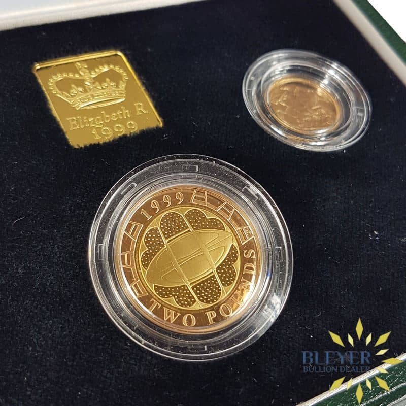 UK Gold Proof Sovereign Three Coin Collection, 1999