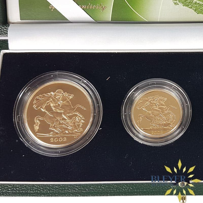 UK Gold Proof Sovereign Four Coin Collection, 2003