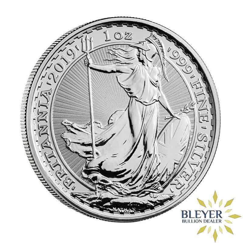 1oz Silver UK Britannia 25 Coin Tube, Current Year