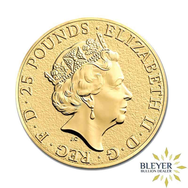 1/4oz Gold UK Queen's Beasts Unicorn Coin, 2018