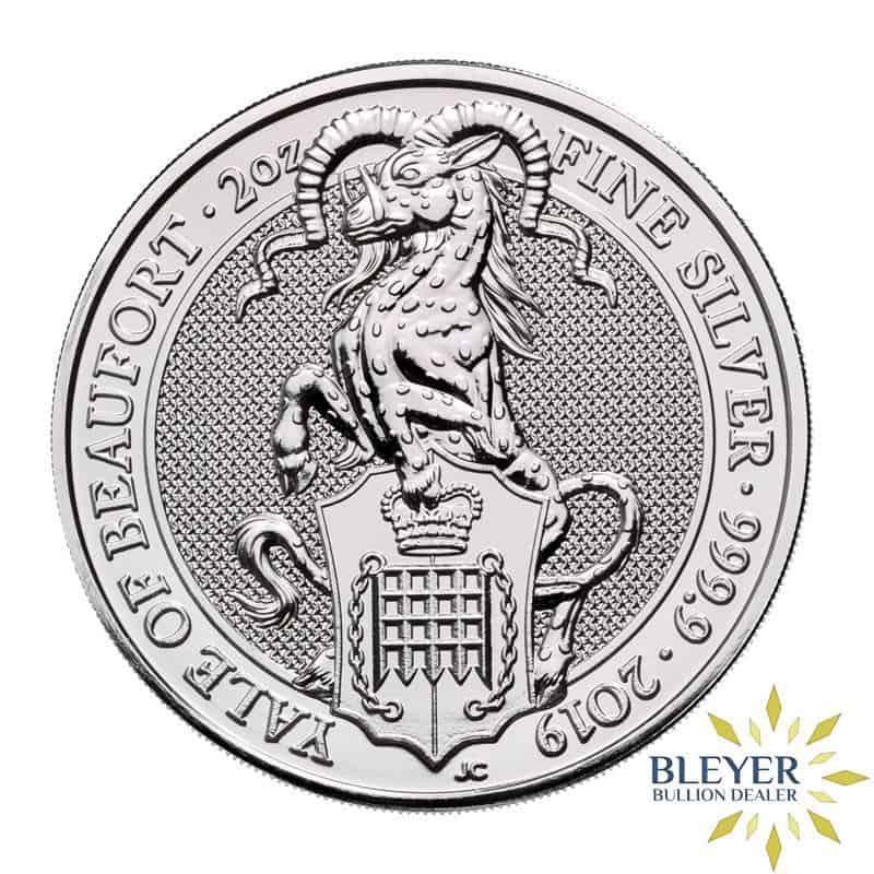 2oz Silver UK Queen's Beasts The Yale of Beaufort, 2019