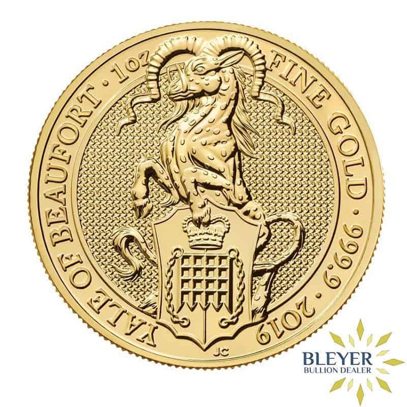 1oz Gold UK Queen's Beasts The Yale of Beaufort, 2019