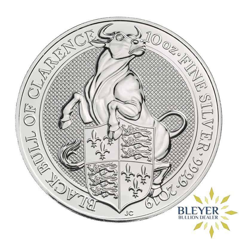 10oz Silver UK Queen's Beasts Bull, 2019