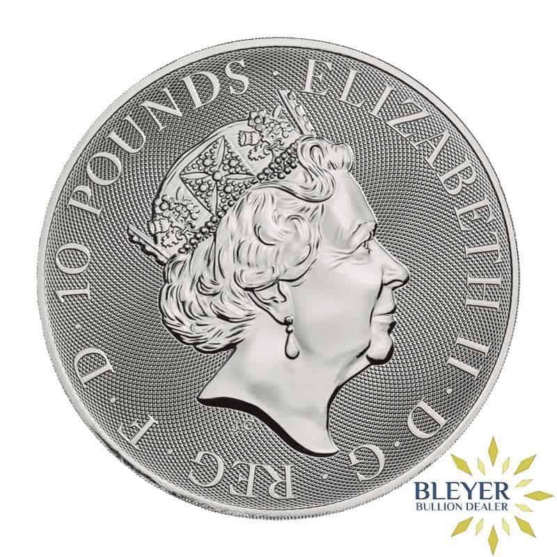 10oz Silver UK Queen's Beasts Bull, 2019