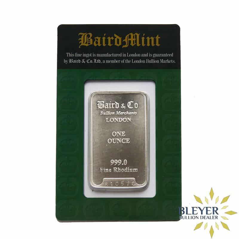 Best Value 1oz Baird & Co Minted Rhodium Bar