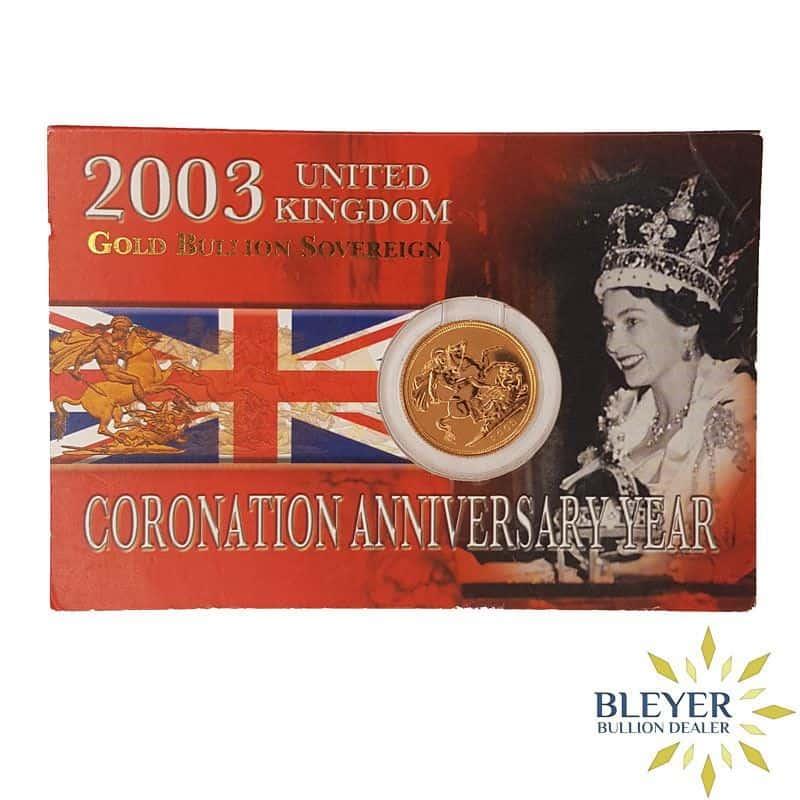 UK Gold Sovereign, 2003 - Coronation Anniversary Year