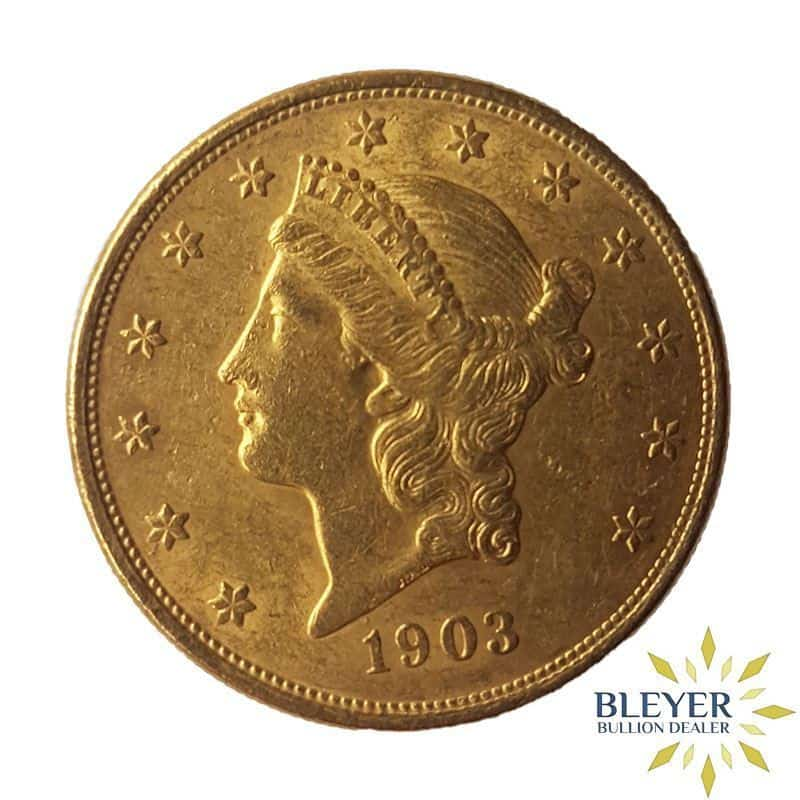 American $20 Gold Double Eagle Liberty Head Coin Mixed Years