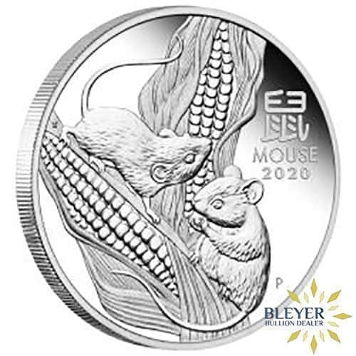1kg Silver Australian Lunar Mouse Coin, 2020