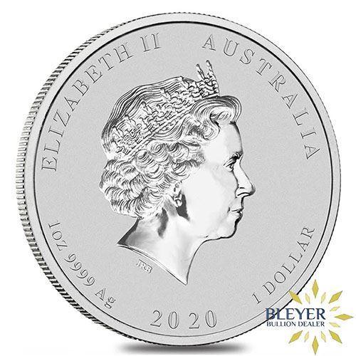 1oz Silver Australian Lunar Mouse Coin, 2020