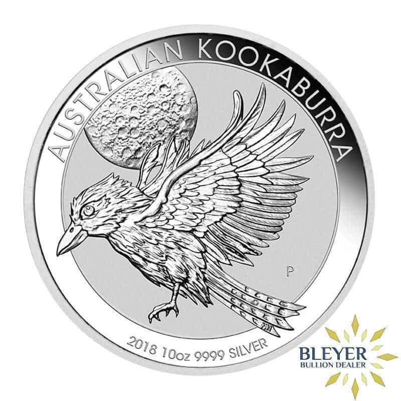 10oz Silver Australian Kookaburra Coin, Mixed Years (Best Value)