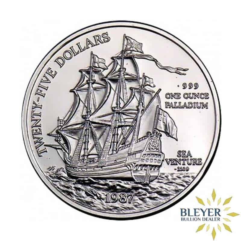 Best Value 1oz Singapore Mint Bermuda Sea Venture Palladium Coin 1987