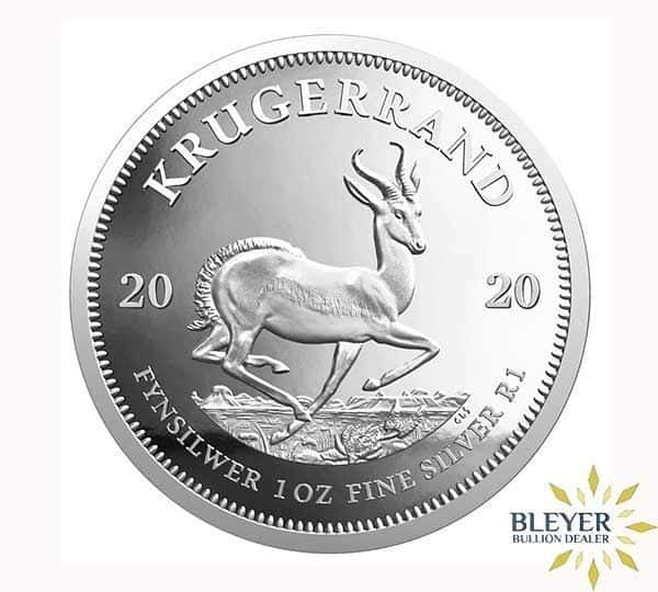 1oz Silver South African Krugerrand Coin, 2020