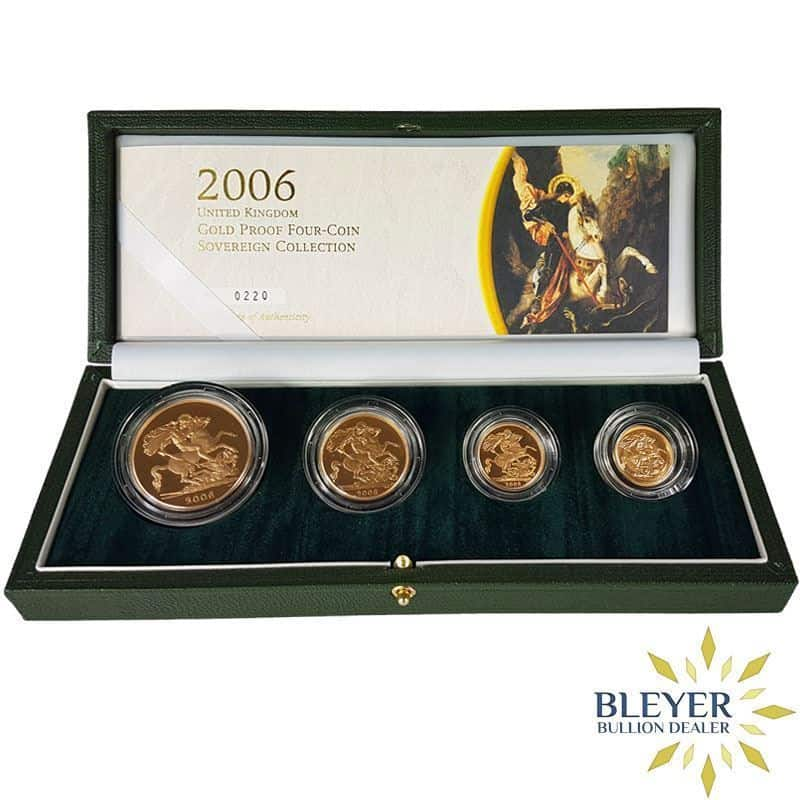 UK Gold Proof Sovereign Four Coin Collection, 2006