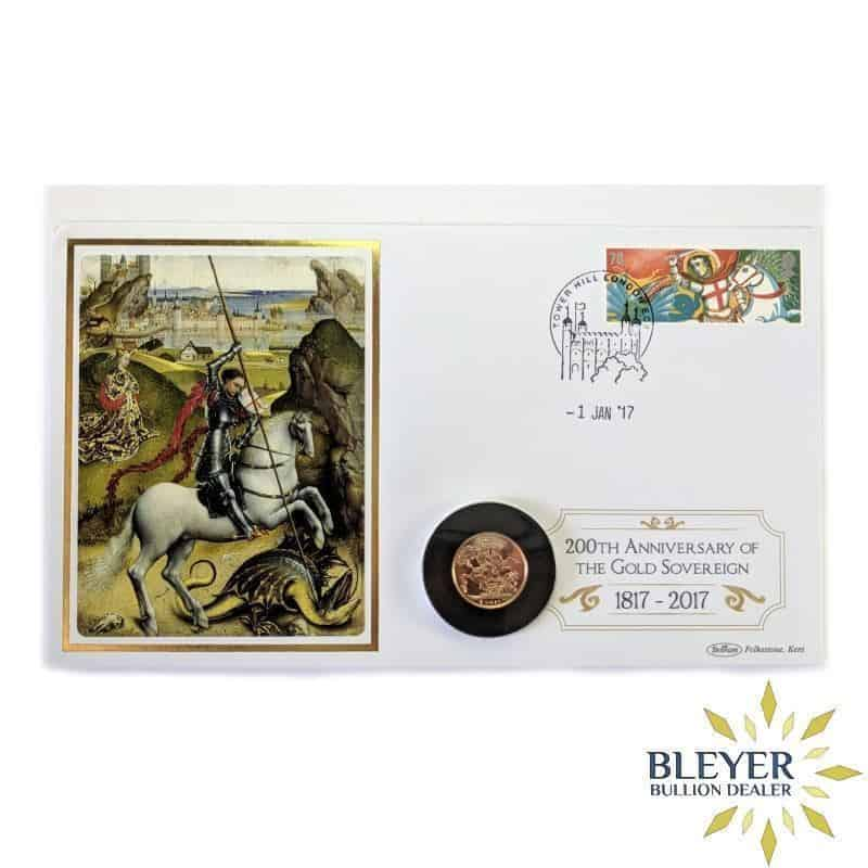 UK Gold Sovereign 2017, 200th Anniversary Stamp Cover