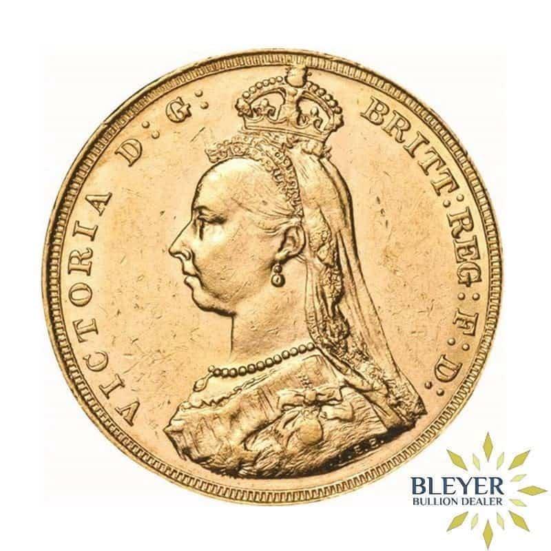 UK Gold Sovereign - Queen Victoria - Jubilee Head