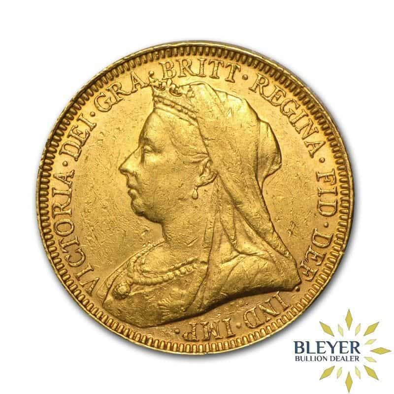 UK Gold Sovereign - Queen Victoria - Veiled Head