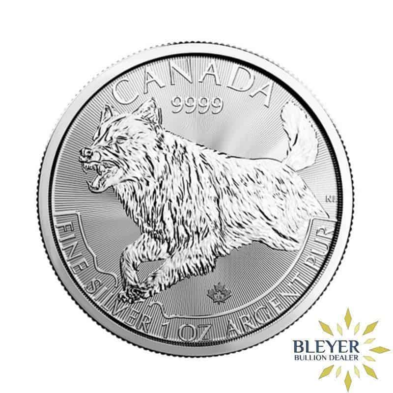 1oz Silver Canadian Wolf Coin, 2018