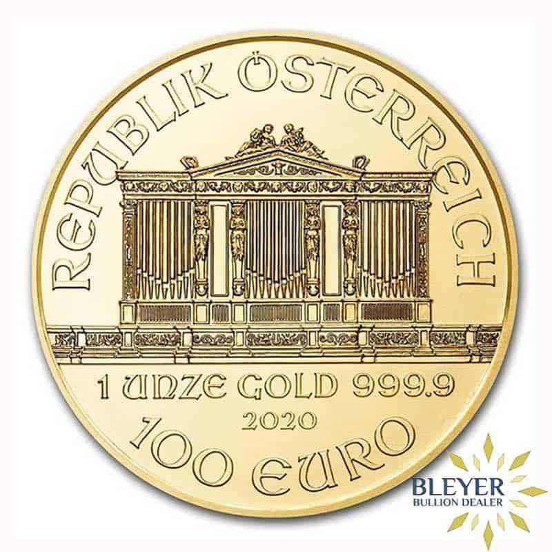 1oz Gold Austrian Philharmoniker Coin, 2020
