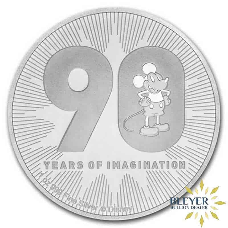 1oz Silver NIUE Disney Mickey Mouse Coin, 2018