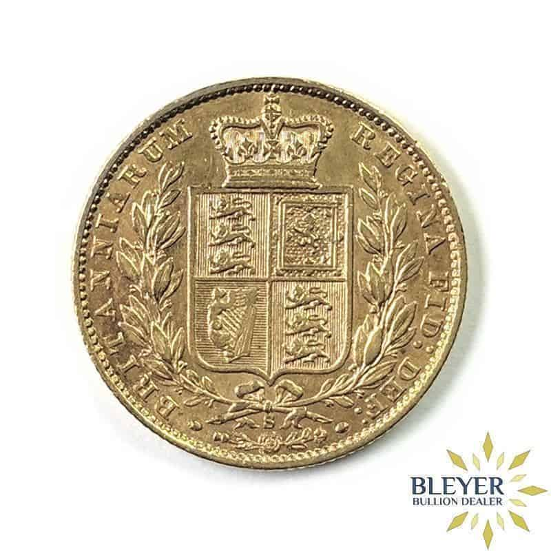 UK Gold Sovereign - Young Head Queen Victoria - Shield Reverse - boxed