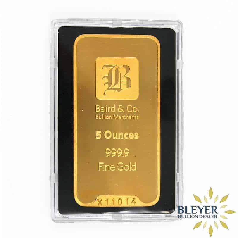 5oz Baird & Co Minted Gold Bar
