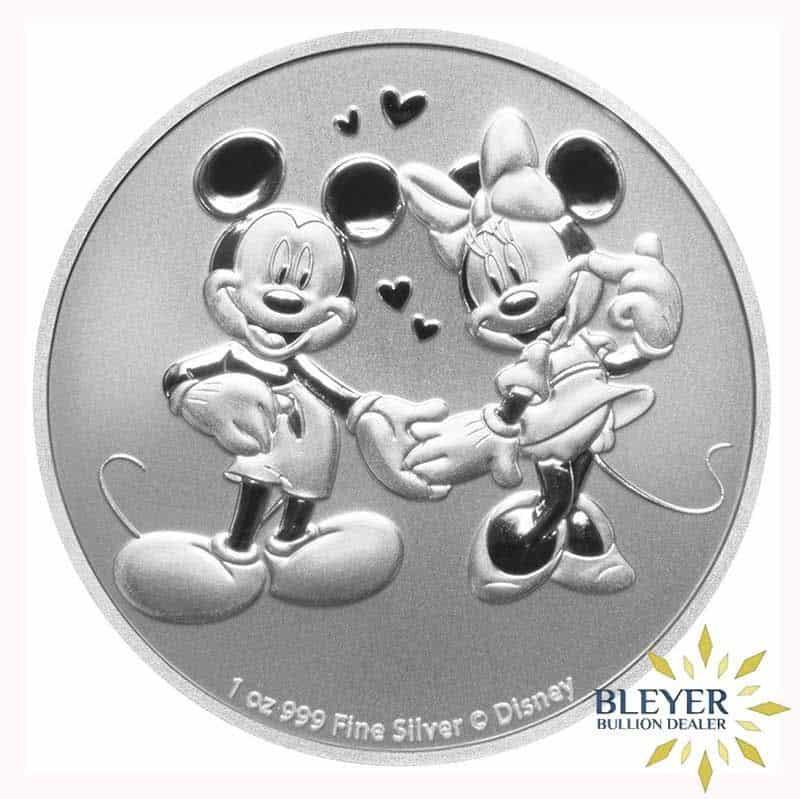 1oz Silver NIUE Disney Mickey & Minnie Mouse Mouse Coin, 2020