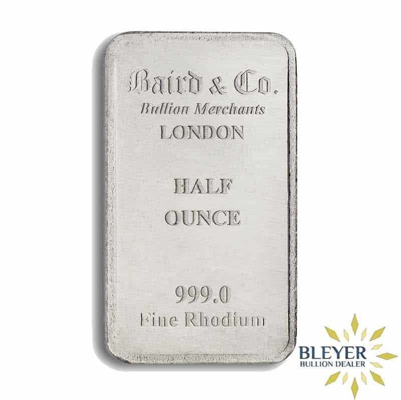 1/2oz Baird & Co Minted Rhodium Bar