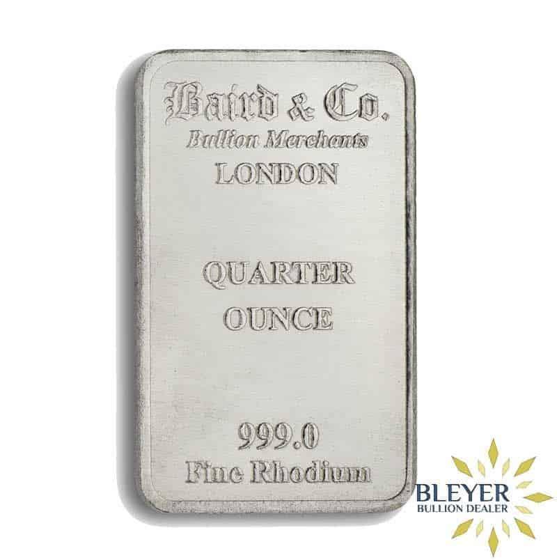1/4oz Baird & Co Minted Rhodium Bar