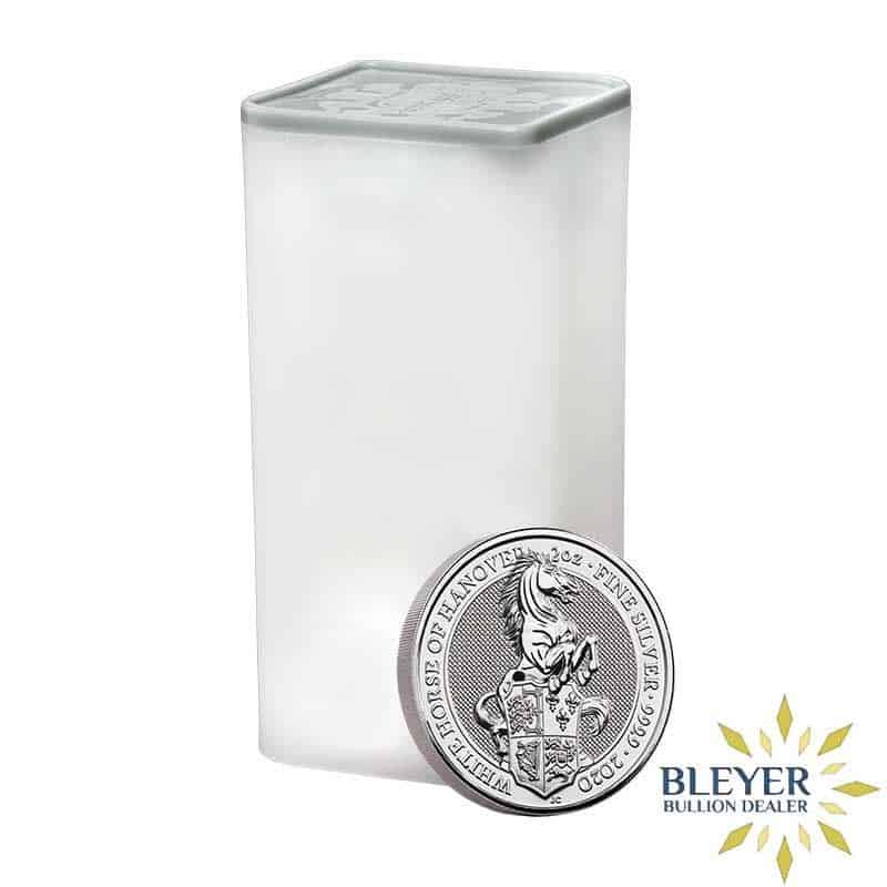 2oz Silver UK Queen's Beast The White Horse of Hanover Coin, 2020