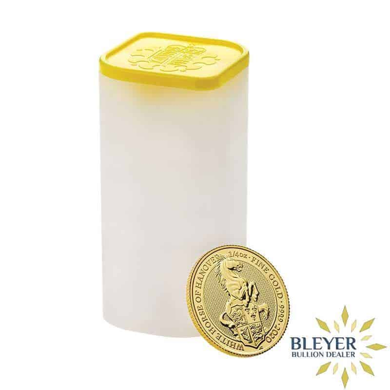 1/4oz Gold UK Queen's Beasts The White Horse of Hanover Coin, 2020