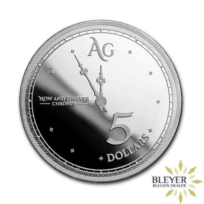 1oz Silver Tokelau Chronos Coin, 2019