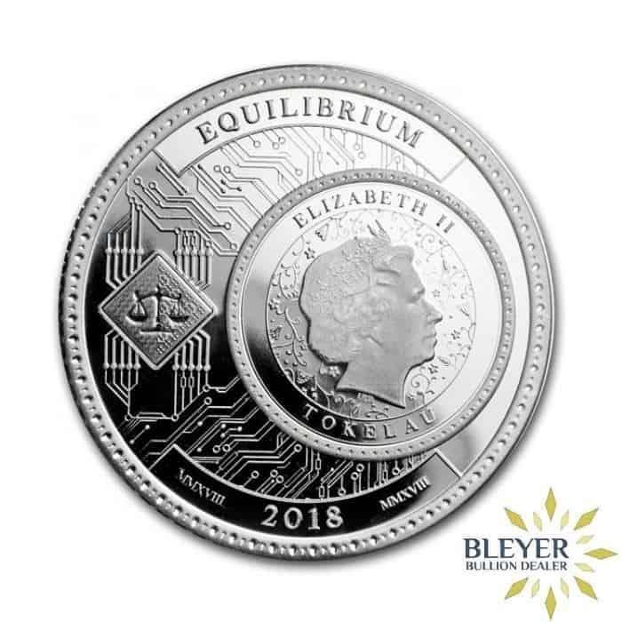 1oz Silver Tokelau Equilibrium Coin, 2018