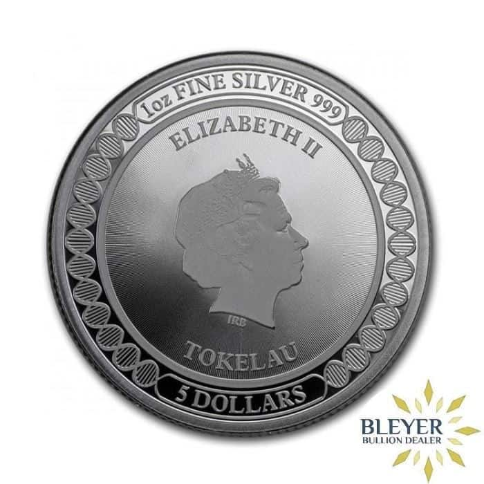1oz Silver Tokelau Equilibrium Butterfly Coin, 2019