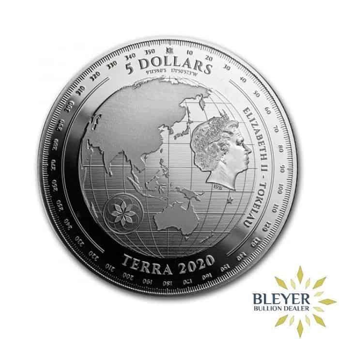 1oz Silver Tokelau Terra Coin, 2020