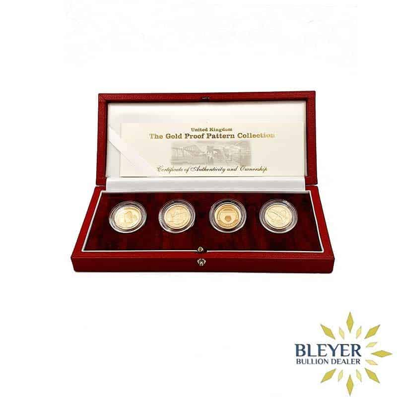 UK Gold Proof One Pound Pattern Collection 2004 - 4 Coin Set