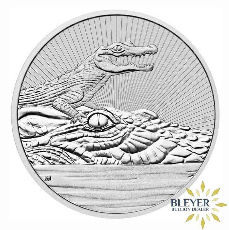 10oz Silver Australian Crocodile Coin, 2019