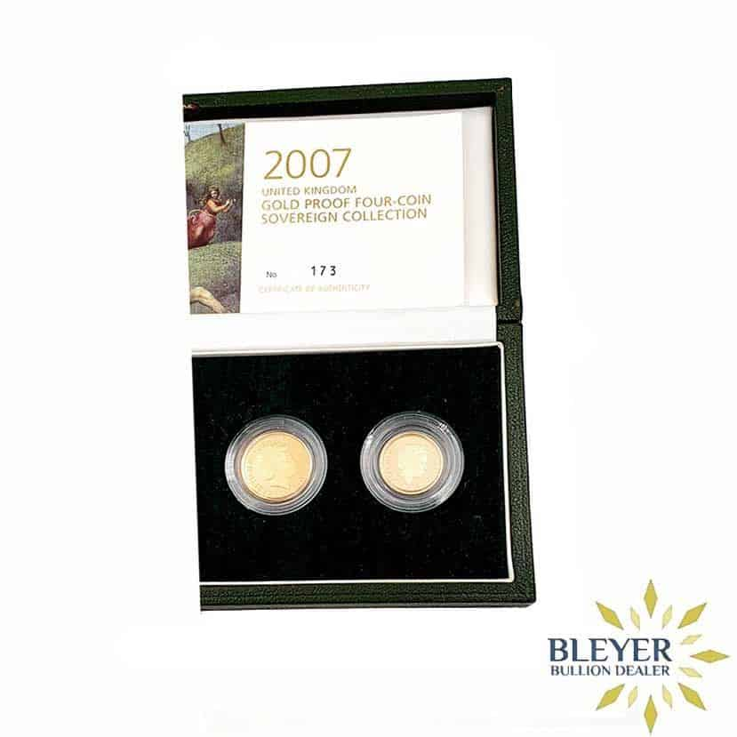 UK Gold Proof Sovereign Four Coin Collection, 2007