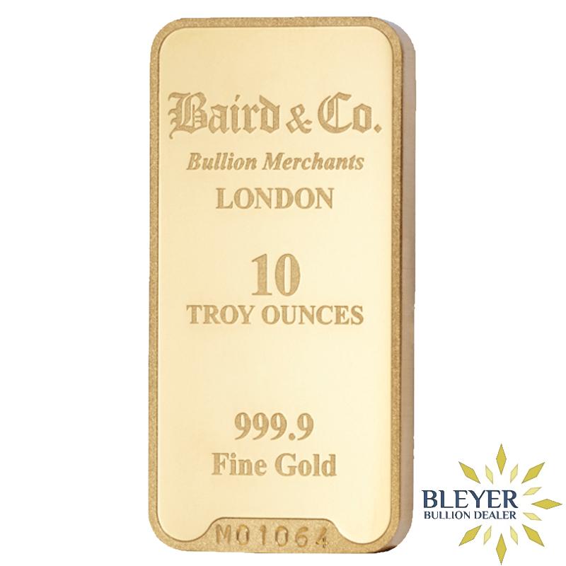 Best Value - 10oz Baird & Co Minted Gold Bar
